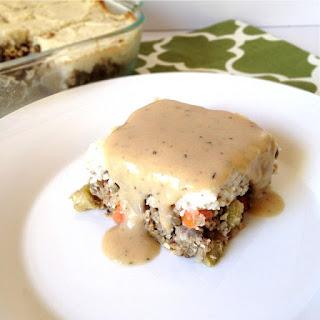 Lentil Loaf with Creamy Cauliflower Mash