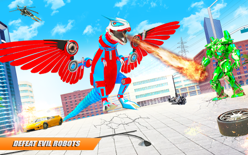 Flying Dino Transform Robot: Dinosaur Robot Games screenshot 5