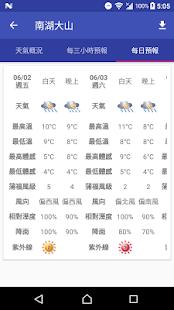 台灣登山氣象 Screenshot