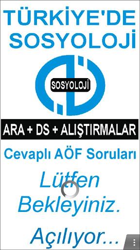 AÖF TÜRKİYE'DE SOSYOLOJİ