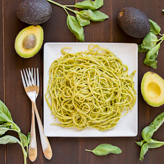 Creamy Avocado Basil Sauced Spaghetti
