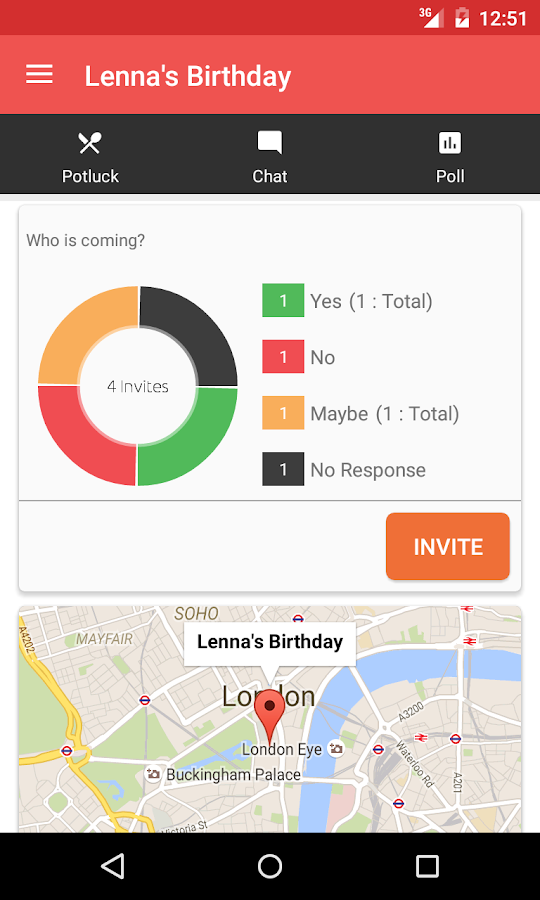 Twingle: Invitations & RSVP- screenshot