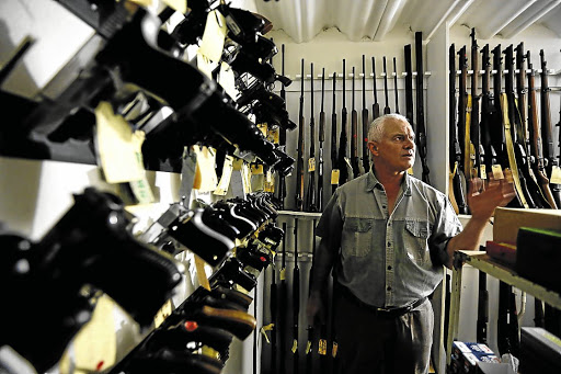 Battle of wills: A gun shop in Kempton Park. SA's R8bn-a-year recreational and trophy hunting industry has long opposed the anti-firearm movement, claiming that its members will be most affected by tighter regulations. Picture: SUPPLIED