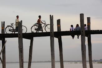 Photo: Year 2 Day 55 - On Their Way Home From Work on U Bein's Bridge