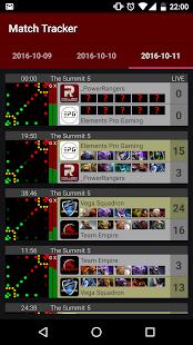 Match Tracker for Dota - náhled