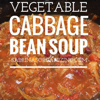 Vegetable Cabbage Bean Soup.