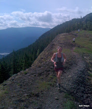 Photo: Kelly dominates the ridge!