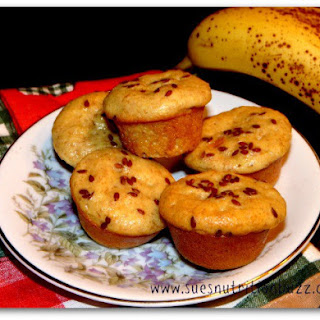 Banana Oat Ricotta Muffins With Flaxseed.