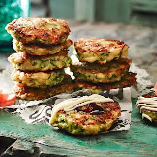 Mini okonomiyaki (Japanese pancakes).