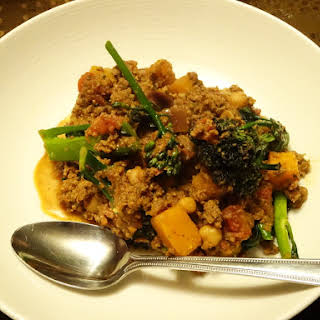 Beef Curry with chickpeas and butternut.