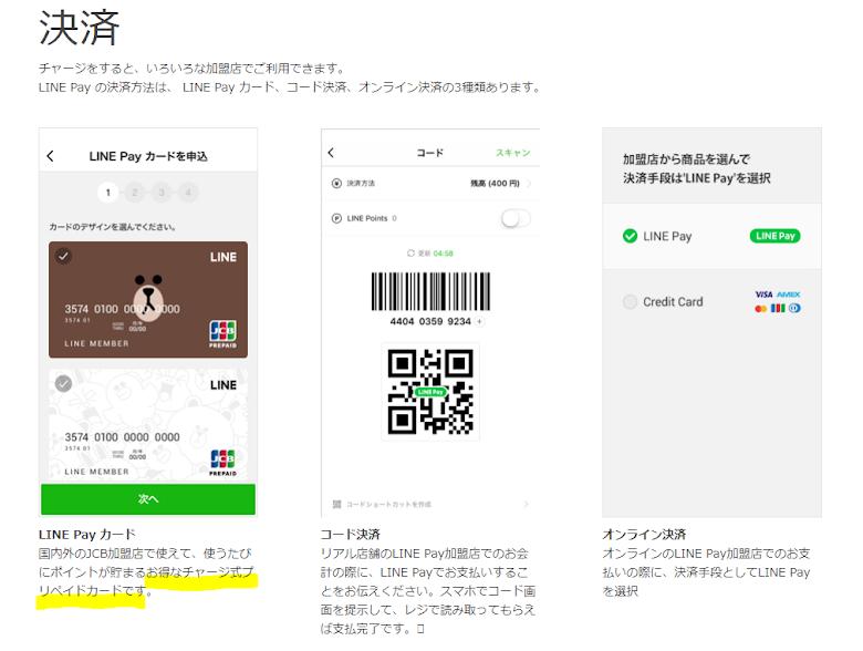 LINE Pay プリペイド