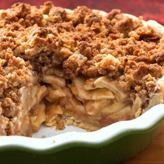 Apple Pie with Streusel Topping.