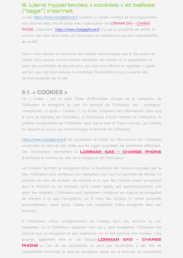 PAGE 5 CGU SITE INTERNET CHARGE PHONE