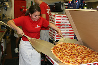 """Photo: Pino`s Pizza Ocean City Maryland USA this is our 28"""" SuPeR PaRtY PiZZa! 24 BIG pieces for 35.99 Call 410-723-FAST(3278) for P/U or DeLiVerY To aLL of Ocean City Maryland"""