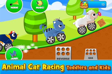 Animal Cars Kids Racing Game - náhled