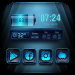 Blue launcher theme &wallpaper release_2.2.7