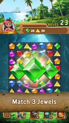Jewels Island : Match 3 Puzzle fond d'écran 1