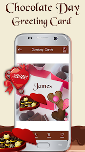 Chocolate Day Greeting Card 2018 - náhled