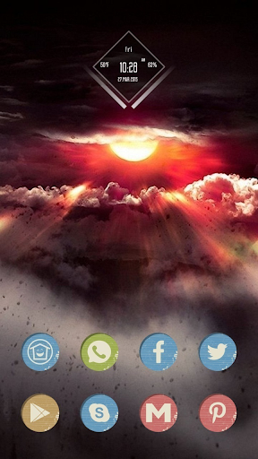 Red Clouds Theme