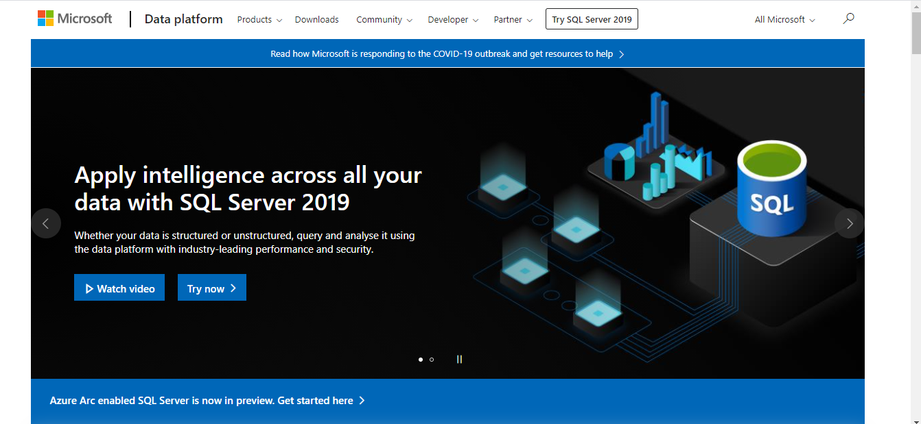 Microsoft SQL Server is a Database Management Software