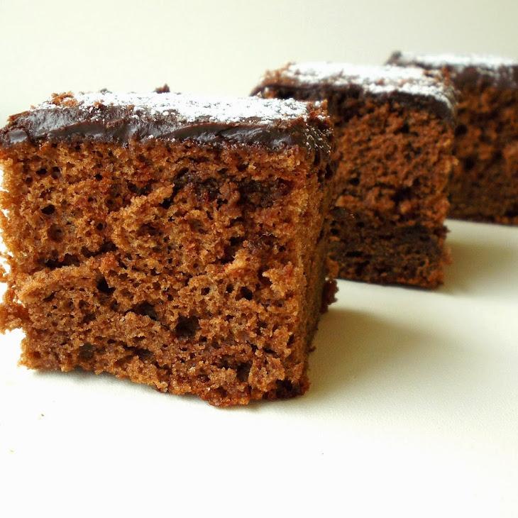 Chocolate Squares With Chocolate Ganache