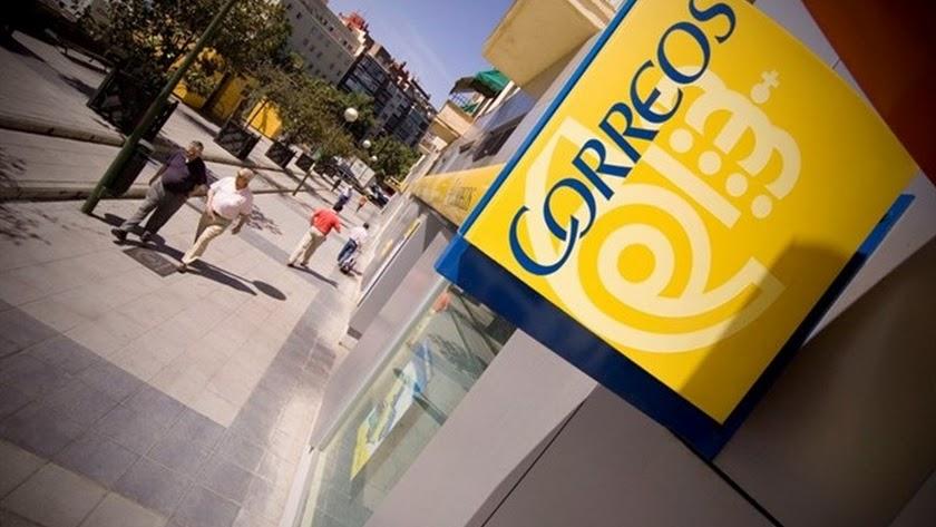 Imagen de un cartel de Correos.