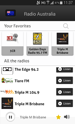 android Radio Australia - Radios AU Screenshot 2