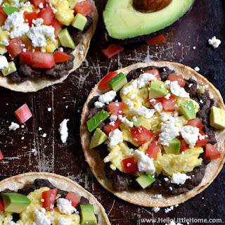 Mexican Breakfast Tostadas.