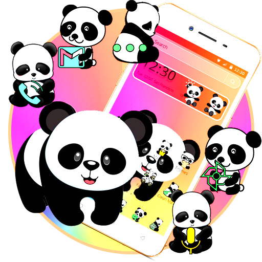 cute colorful panda theme app apk free download for android pc windows