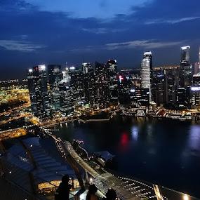 Downtown cityscape. by Dennis Mai - City,  Street & Park  Skylines