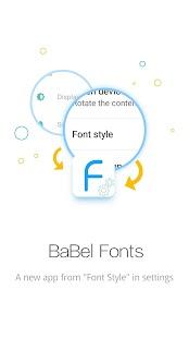 BaBel Font - Free Font Manager - náhled