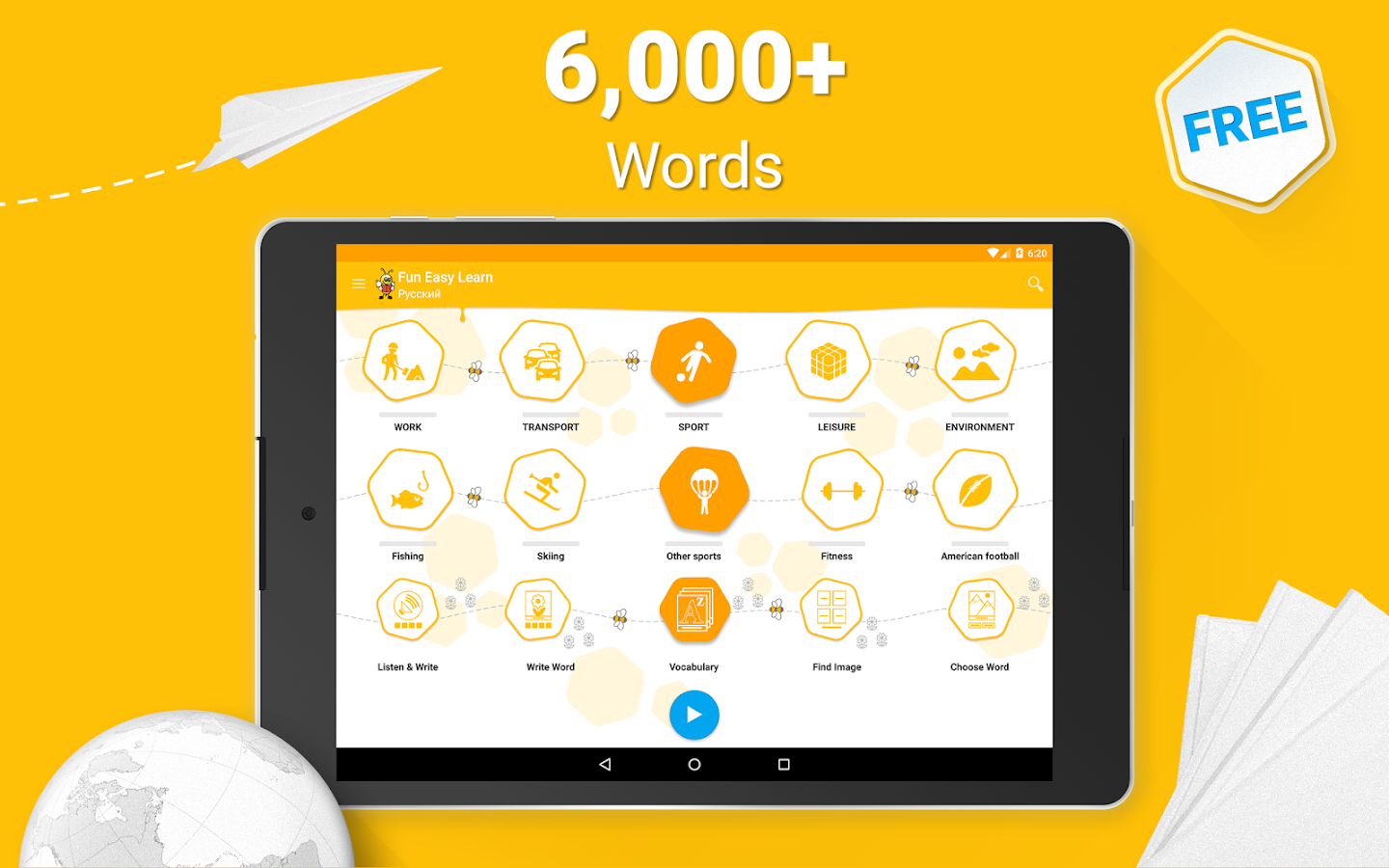 Learn Russian Vocabulary - 6,000 Words- screenshot