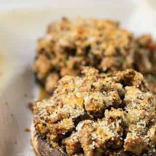 Sausage Stuffed Portobello Mushrooms.
