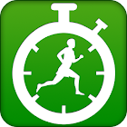 Pedometer-step calorie counter icon