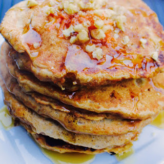 Carrot Walnut Pancakes