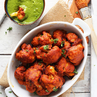 "Spicy Red Curry Cauliflower ""Wings"""