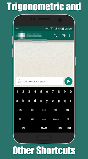 Math Input Keyboard Apps for Android screenshot