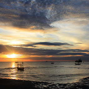 Huahin by Pom Wanchart - Landscapes Sunsets & Sunrises