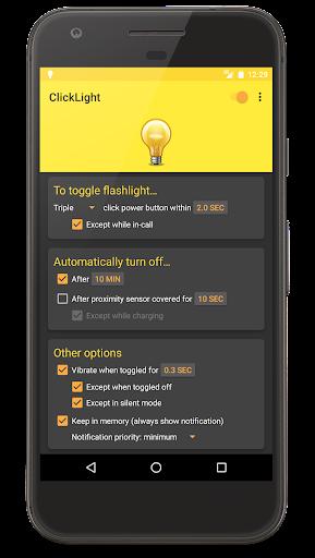 ClickLight Flashlight screenshot 1