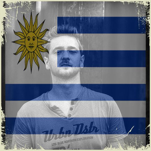 Uruguay Flag On Face Maker : Photo Editor