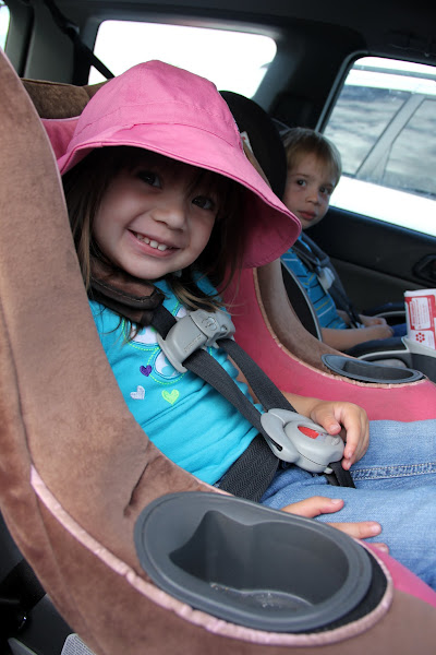 Photo: As usually I brought my helpers. They don't get excited about my coffee, but they do like to shop.