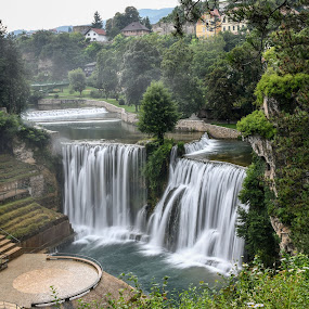 Vodopad Jajce by Jovica Panić - Landscapes Waterscapes ( waterfalls, waterscape, waterfall )
