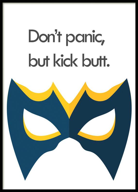 Don't Panic, Superhero, Poster