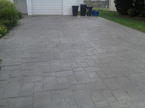 Photo: Riverhead, NY stamped driveway