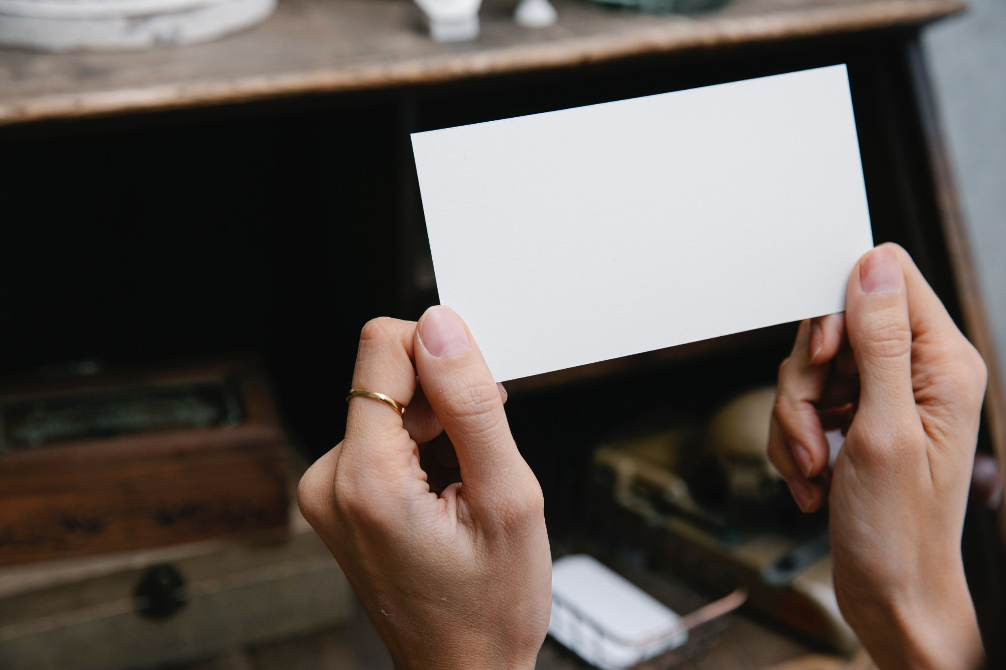 Blank thick paper