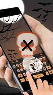 Ghastly Halloween Keyboard Theme - náhled
