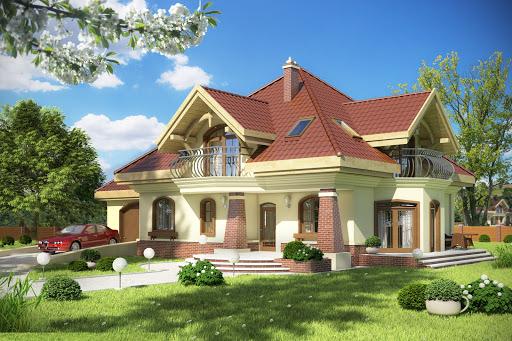 projekt Dzierlatka III z garażem 1-st. A1
