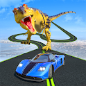 Dinosaur Car Chase Ramp Stunts icon