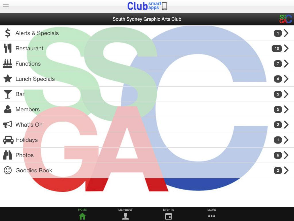 South Sydney Graphic Arts Club- screenshot