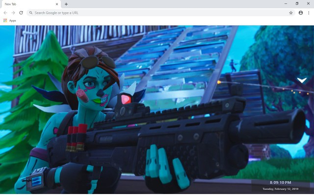 Fortnite Ghoul Trooper New Tab Theme